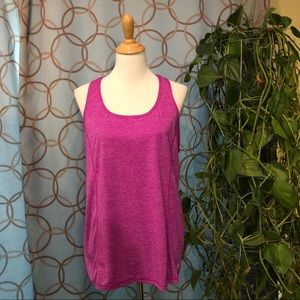 Danskin Now Semi-Fitted Purple Striped Tank XXL 20